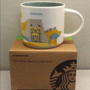 NU Starbucks JORDAN You Are Here Relief Coffee Mug